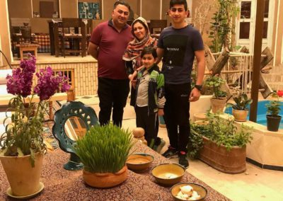 an Iranian famliy celebrates Persian New Year